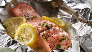 Grilled Lemon-Salmon Foil Packs