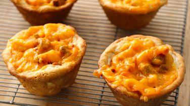 Chili and Cheese Mini Pasta Pies