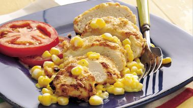 Ranch Oven-Fried Chicken with Warm Corn Relish