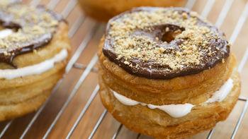 S'mores Crescent Doughnuts