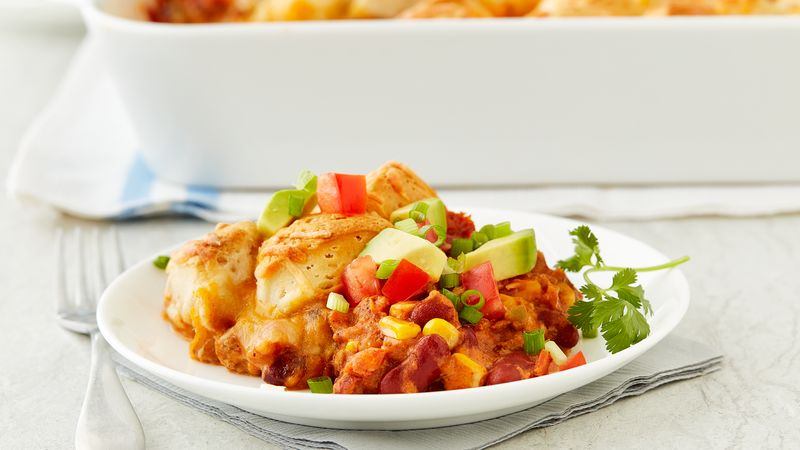 Biscuit-Topped Cowboy Casserole