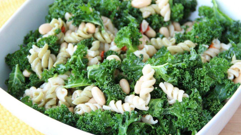 Caesar Pasta Salad with Kale