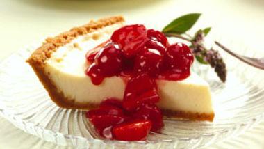 Vanilla Cheesecake with Cherry-Berry Topping