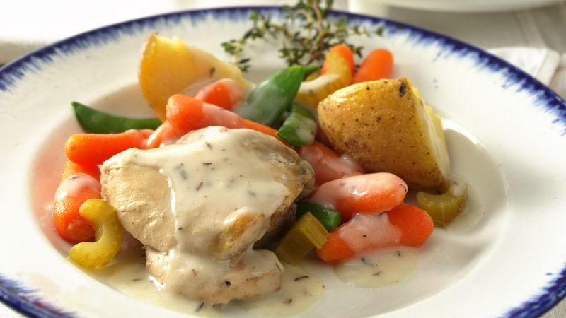 Slow-Cooker Creamy Herbed Chicken Stew