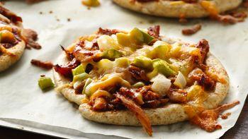 Mini BBQ Chicken Pizzas
