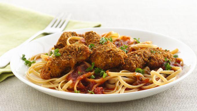 Chicken Parmesan with Linguine