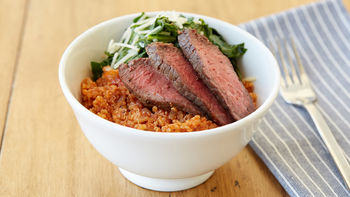 Steak and Chard Quinoa Bowls