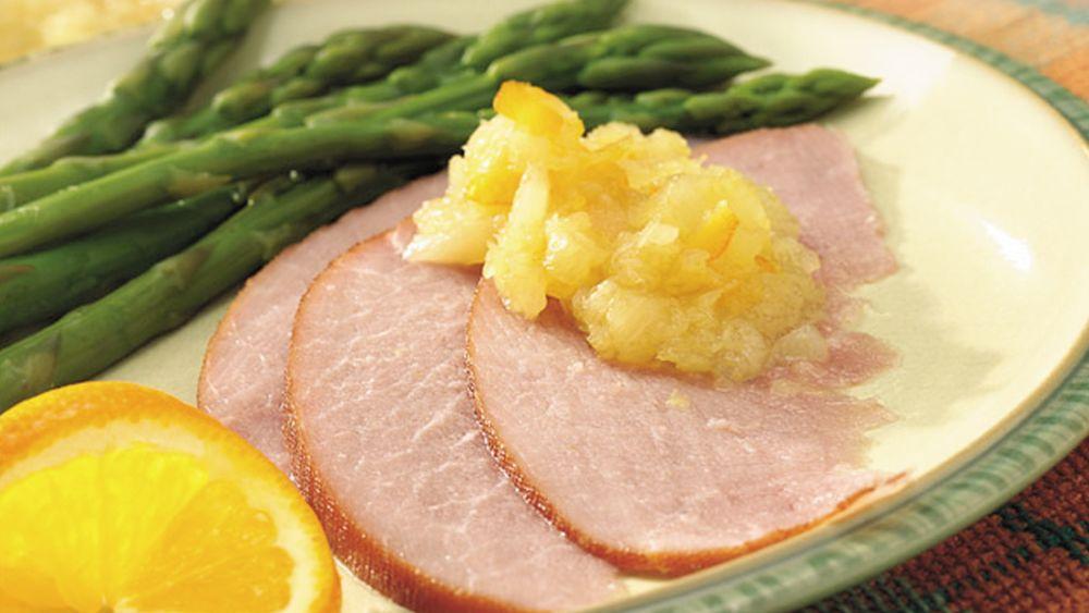 Slow-Cooker Pineapple-Orange Glazed Ham