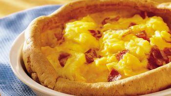 Pepperoni-Egg Puff