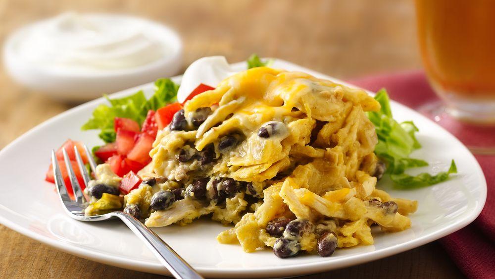 Slow-Cooker Chicken Enchilada Casserole