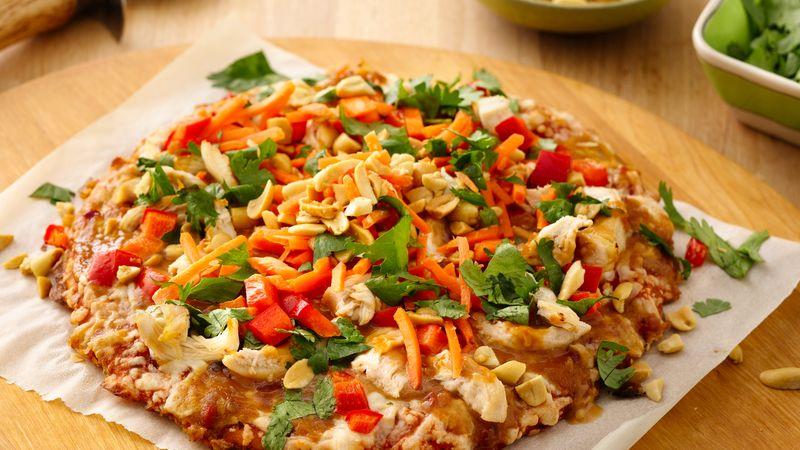 """""""Thai Chicken Party"""" Pizza"""