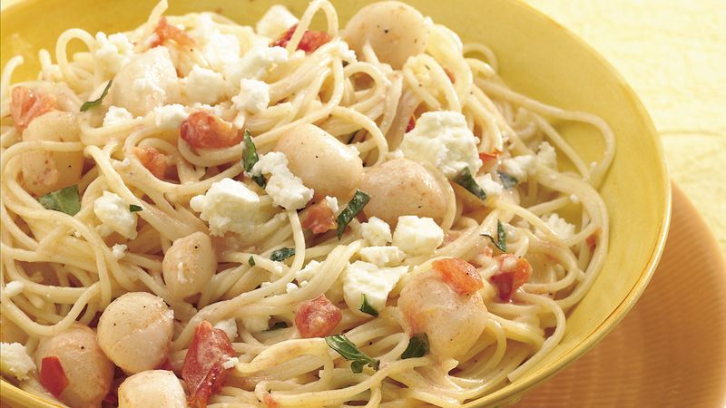 Creamy Scallops with Angel Hair Pasta