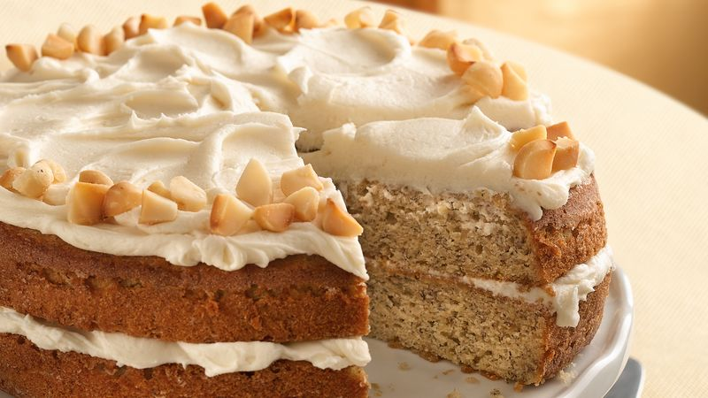 Banana-Ginger-Macadamia Cake