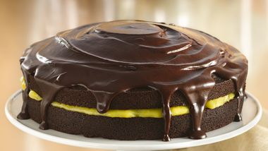 Chocolate-Orange Cake with Ganache Glaze