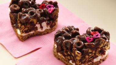 Chocolate Cheerios® Marshmallow Hearts