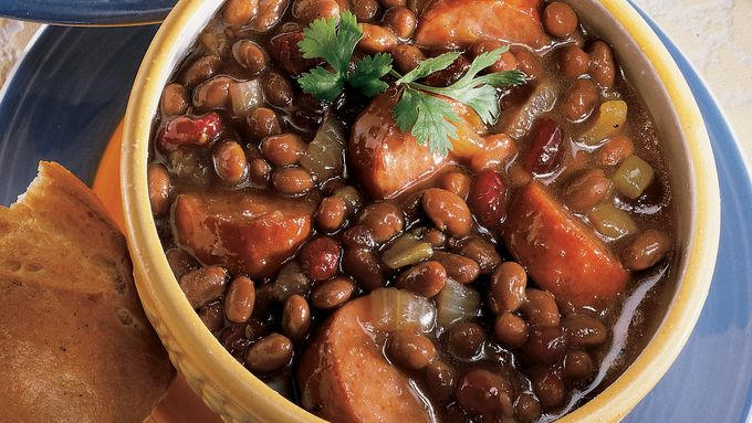 Spicy Sausage-Cranberry-Baked Bean Ragout