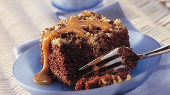 Nutty Chocolate Chip Picnic Cake