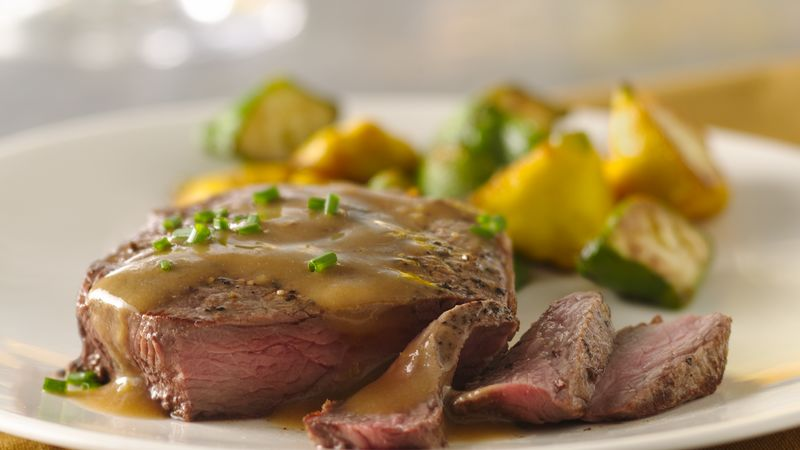 Lemon Dijon Pan Steak