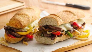 Quick Philly Cheese Steak Sandwiches