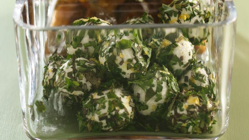 Herb-Coated Mini Cheese Balls