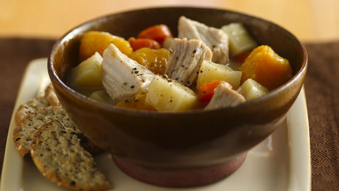 Slow-Cooker Pork and Veggie Stew