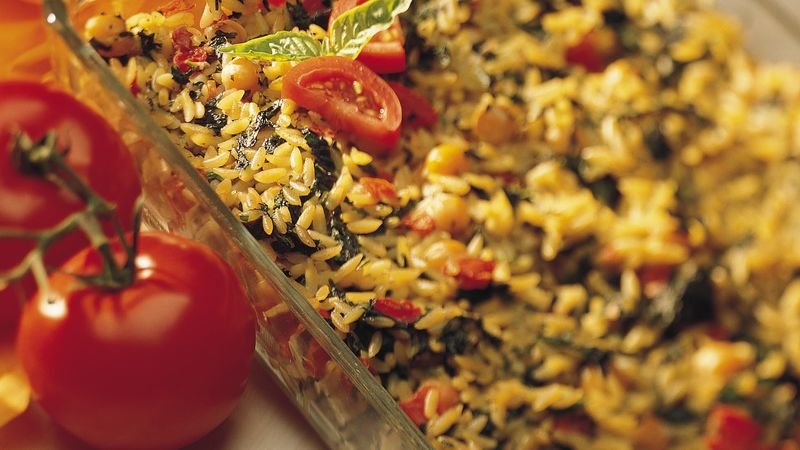 Baked Orzo and Vegetables