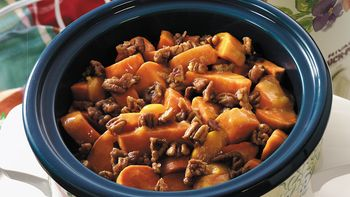 Slow-Cooker Peachy Glazed Sweet Potatoes