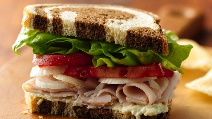Smoked Turkey and Creamy Artichoke Sandwiches