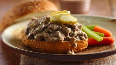 Slow-Cooker Cheeseburger Sandwiches