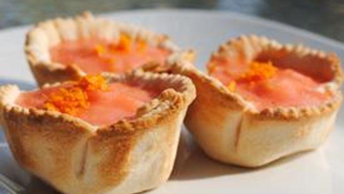 Blood Orange Mimosa Pies