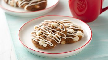 2-Ingredient Vanilla Chip Gingerbread Cookies