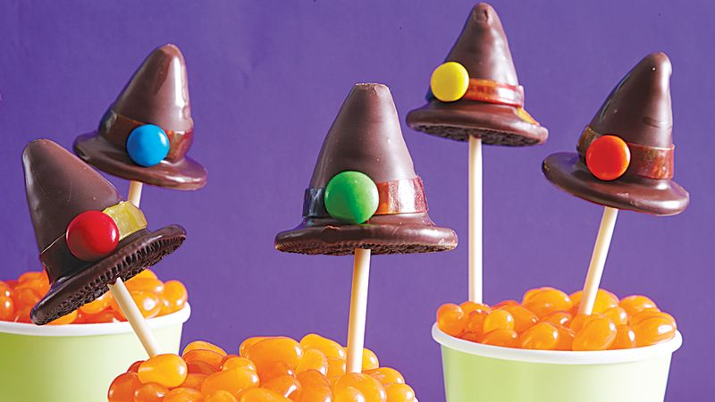 Witch Hat Halloween Cake Pops