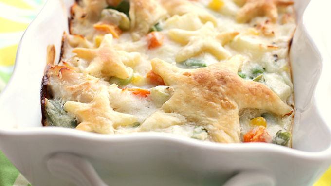 1-2-3 Creamy Chicken Pot Pie