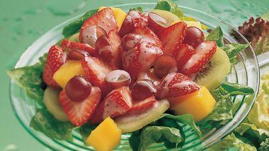 Fruit Salad with Strawberry-Poppy Seed Vinaigrette