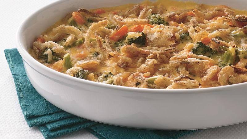 Cheesy Broccoli and Carrot Casserole