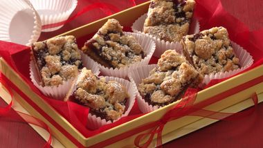 Linzer Torte Bars (Cookie Exchange Quantity)
