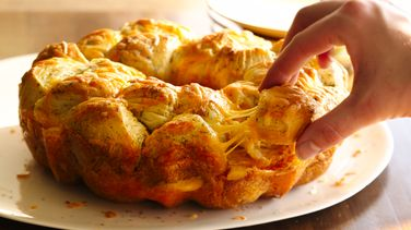 Cheesy Ham And Biscuit Pull Apart Wreath Recipe From
