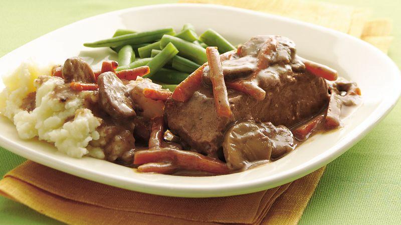 Slow-Cooker Easy Slow-Cooker Pot-Roasted Steak