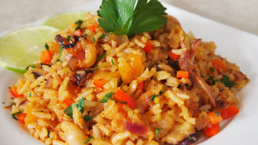 Peruvian Style Rice with Seafood