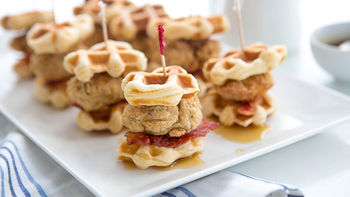 Chicken Waffle Bacon Sliders