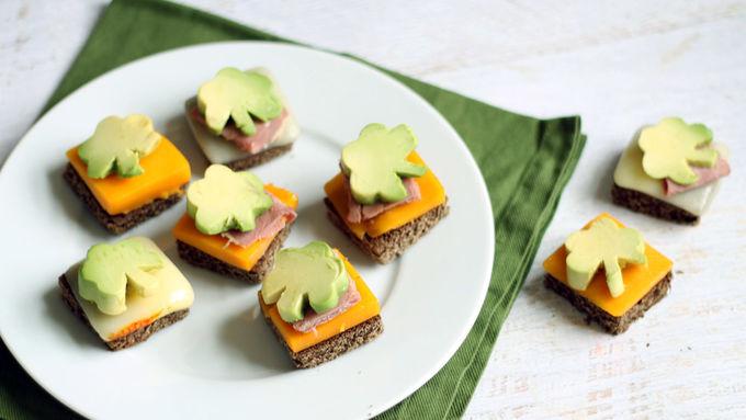 Shamrock Avocado Bites