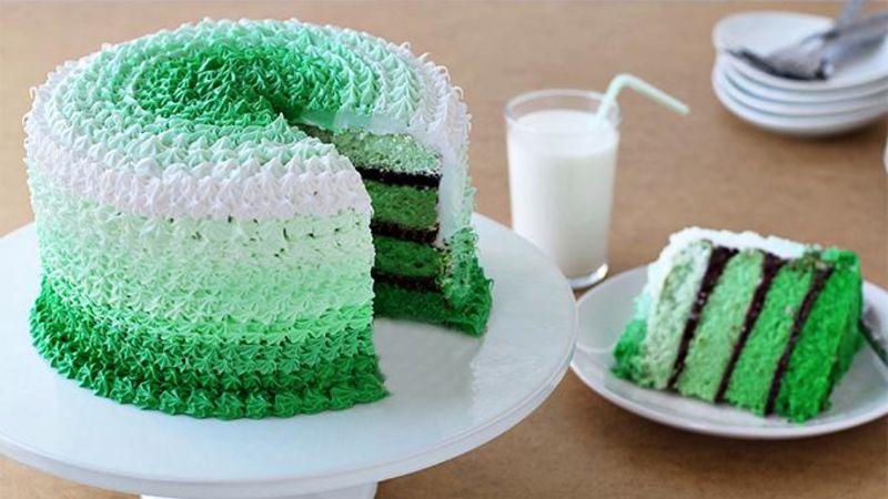 Grasshopper Ombre Cake