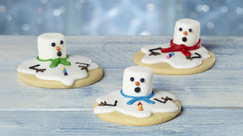 Melted Snowman Sugar Cookies