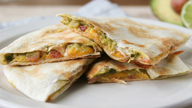Bacon-Guacamole Quesadillas