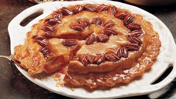 Upside-Down Plum-Pecan Pie