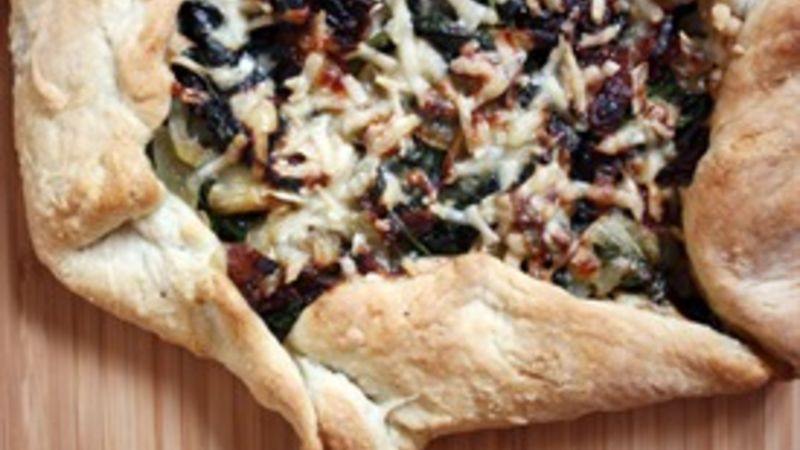 Bacon-Spinach Galette