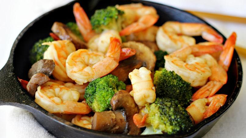 Recetas De Cocina Con Brocoli | Receta De Salteado Facil De Camarones Y Brocoli Que Rica Vida