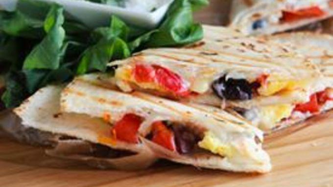Skinny Greek Breakfast Quesadilla