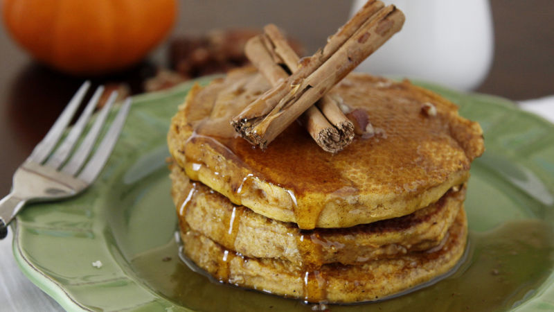 Pumpkin Pie Pancakes recipe - from Tablespoon!