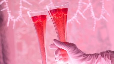 Gluten-Free Hibiscus Royale Champagne Cocktail